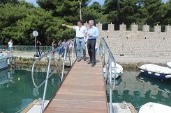 Župan obišao prvi ponton komunalne lučice Batala